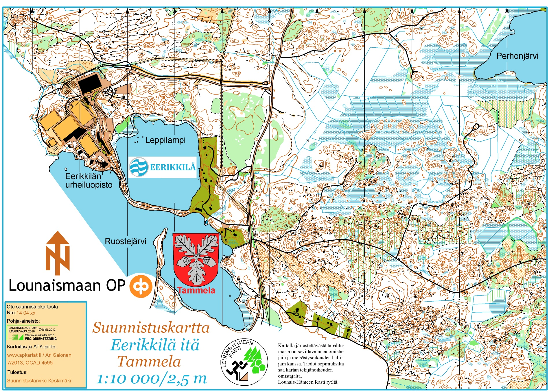 Forssa Games 2014 muut sarjat June 10th 2014 Orienteering Map