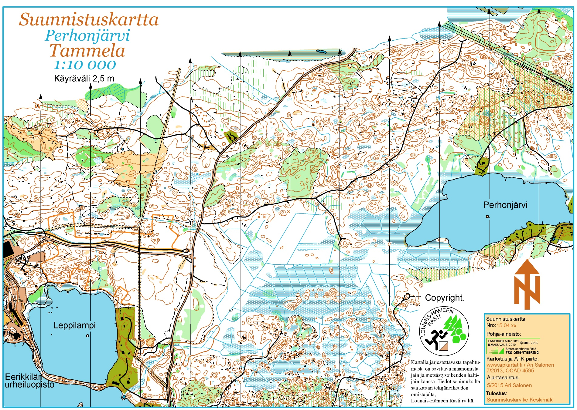 Forssa Games 2015 June 11th 2015 Orienteering Map from olfellowsfi