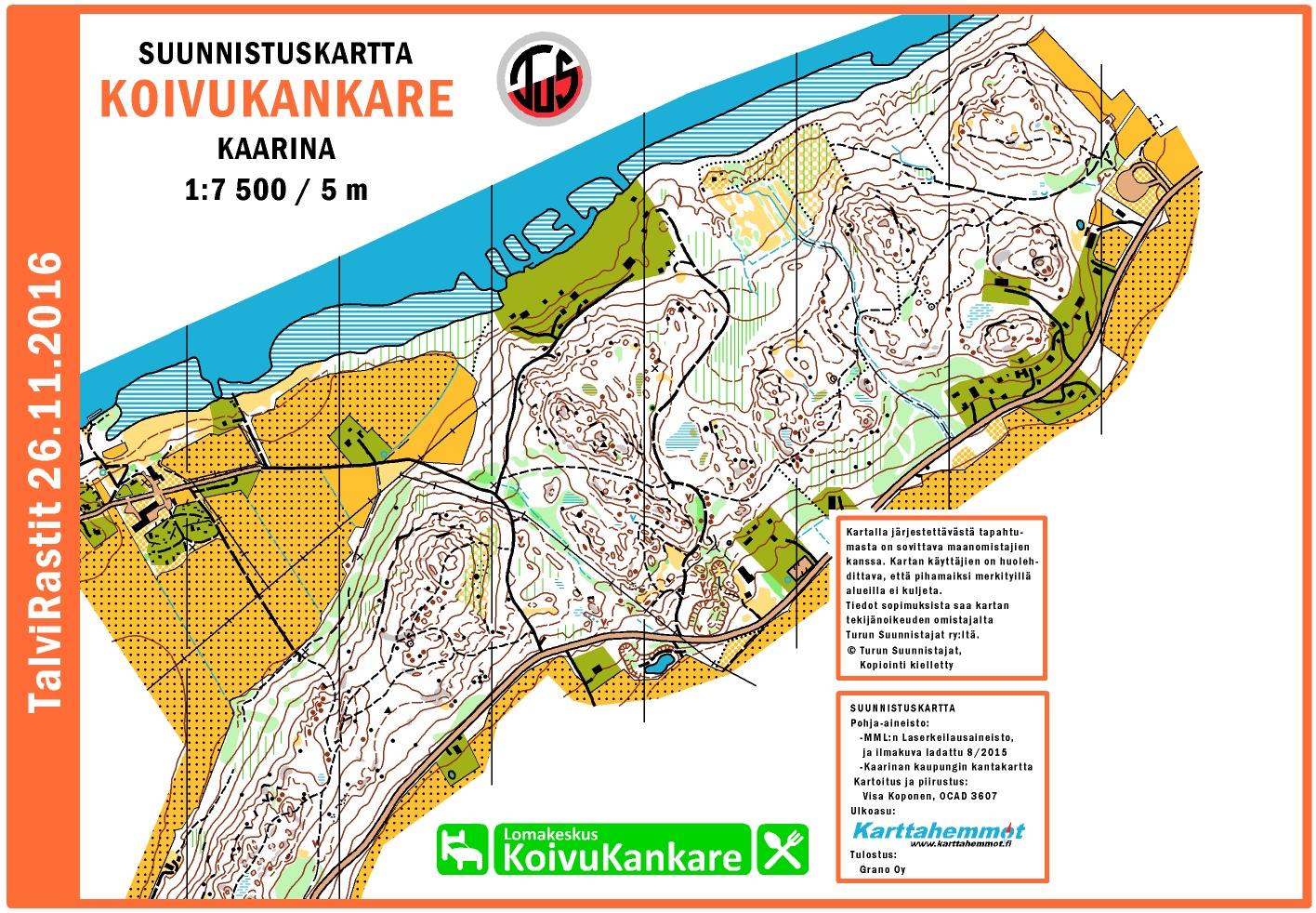 Talvirastit 26 11 2016 November 26th 2016 Orienteering Map
