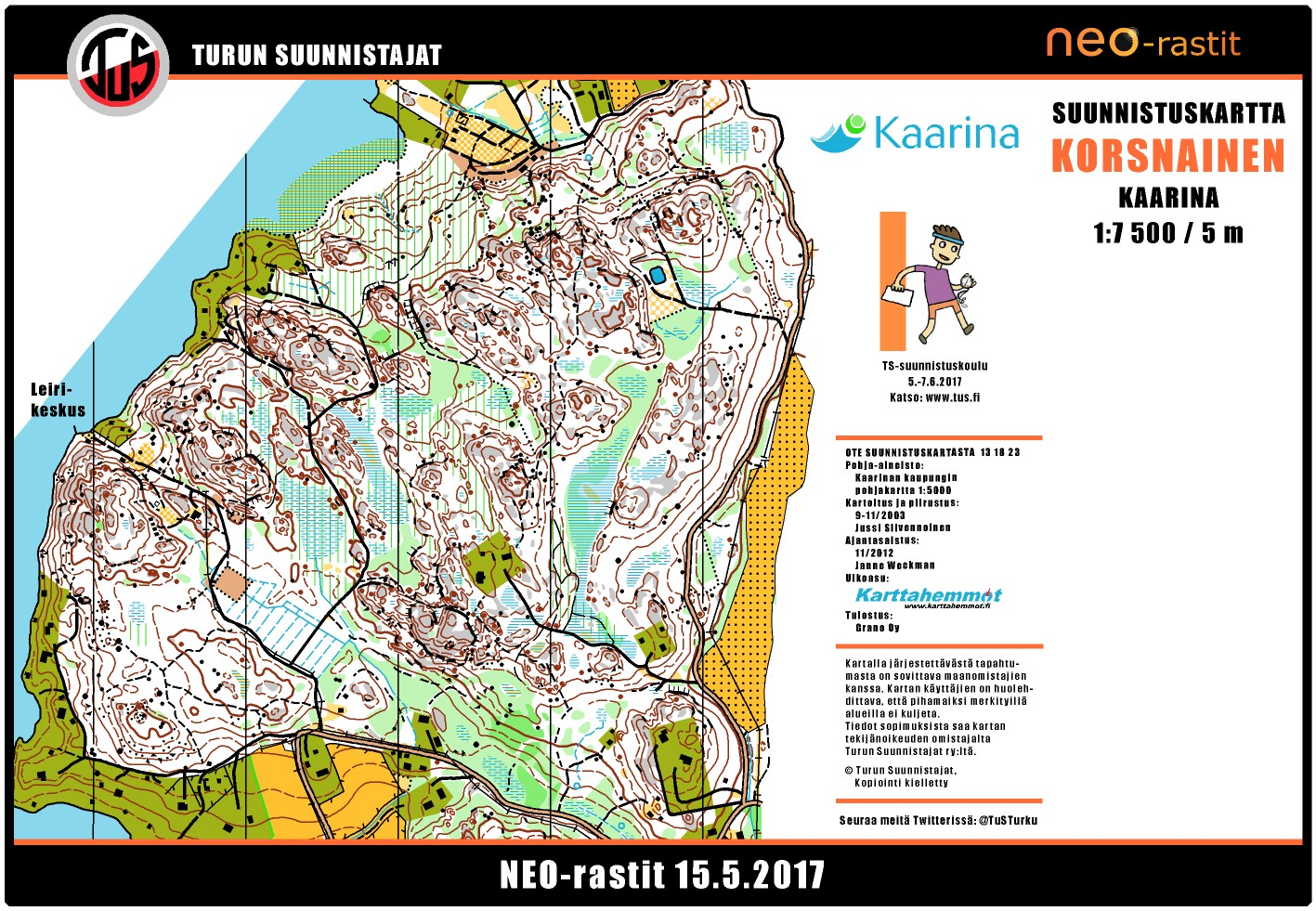 Neo Rastit 15 5 2017 May 15th 2017 Orienteering Map From