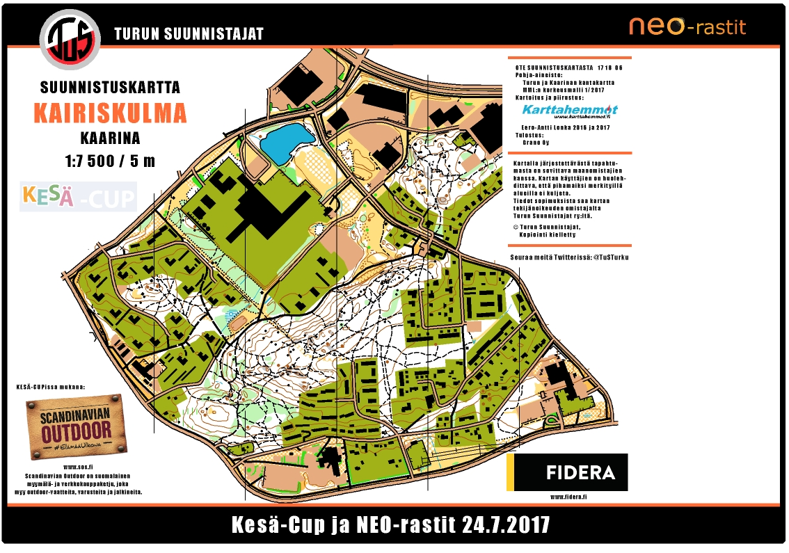 NeoRastit 2472017 July 24th 2017 Orienteering Map from