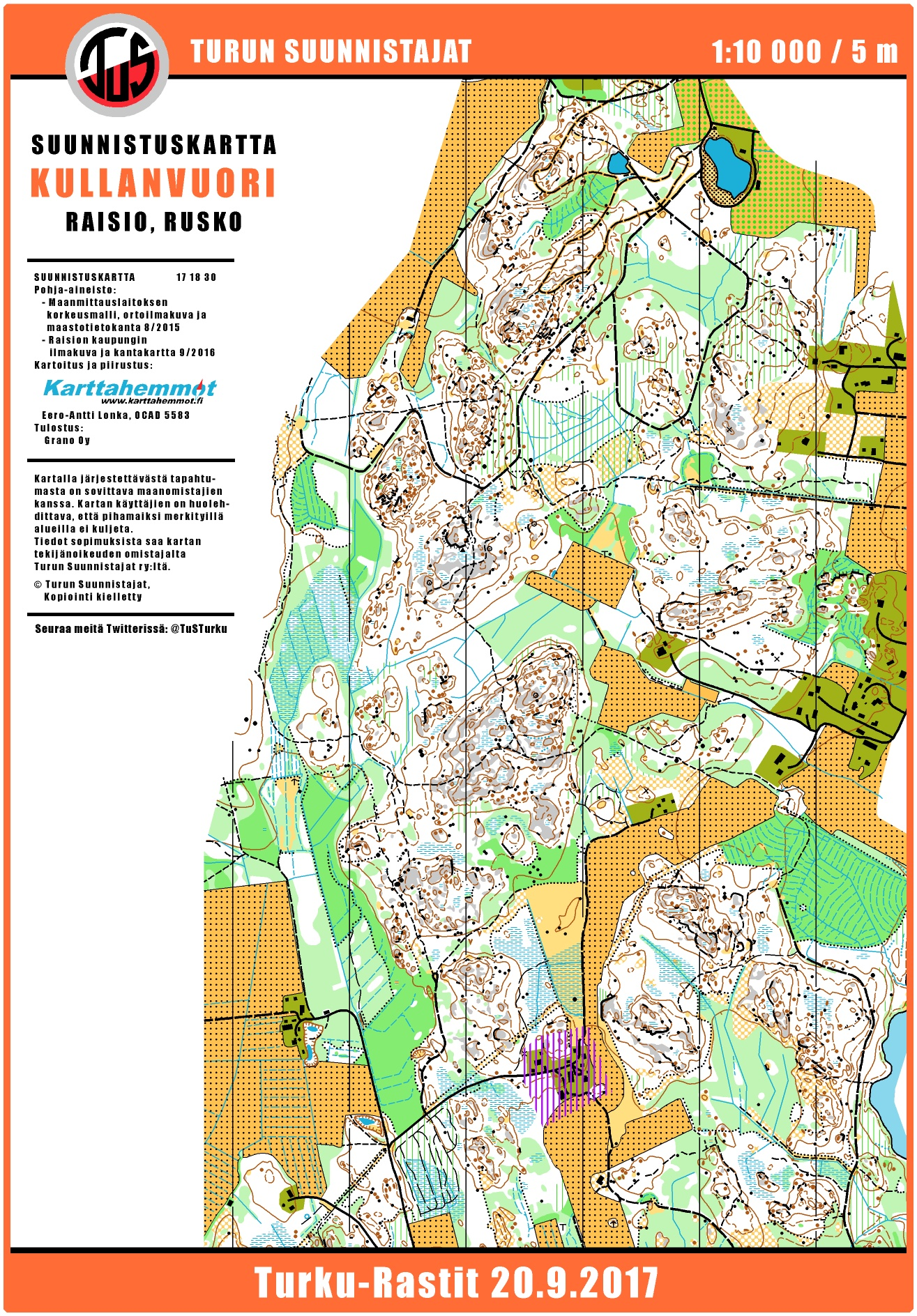 TurkuRastit 2092017 September 20th 2017 Orienteering Map from