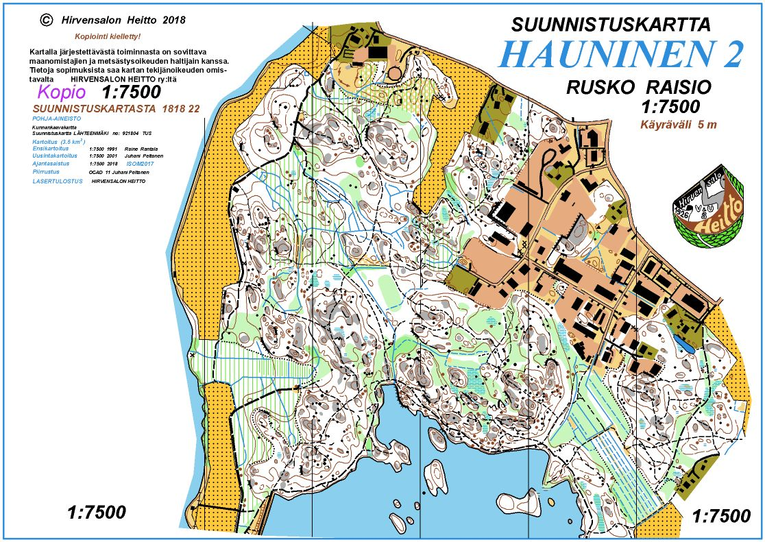 Turku Rastit 18 4 2018 April 18th 2018 Orienteering Map From
