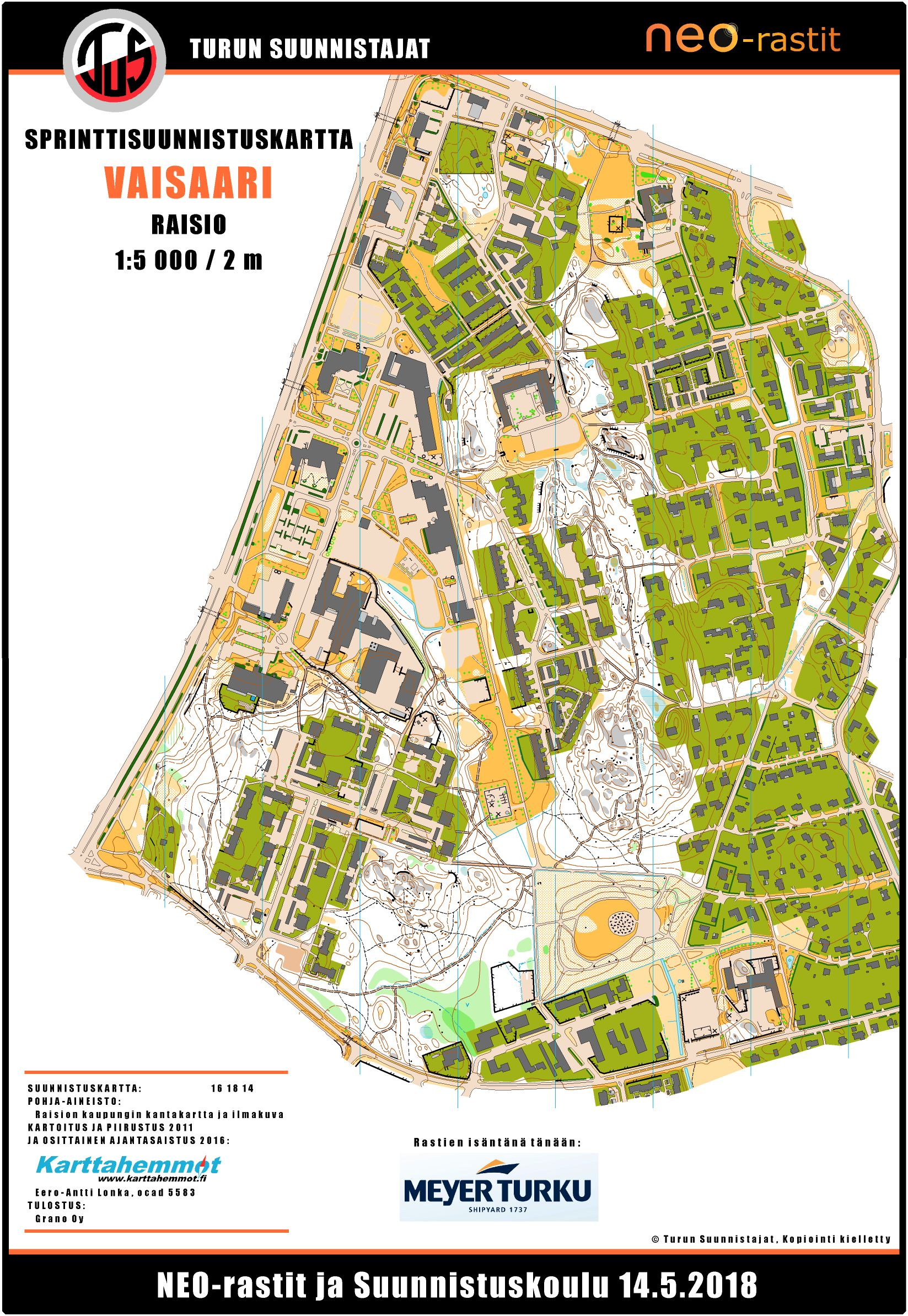 Neo Rastit 14 5 2018 May 14th 2018 Orienteering Map From